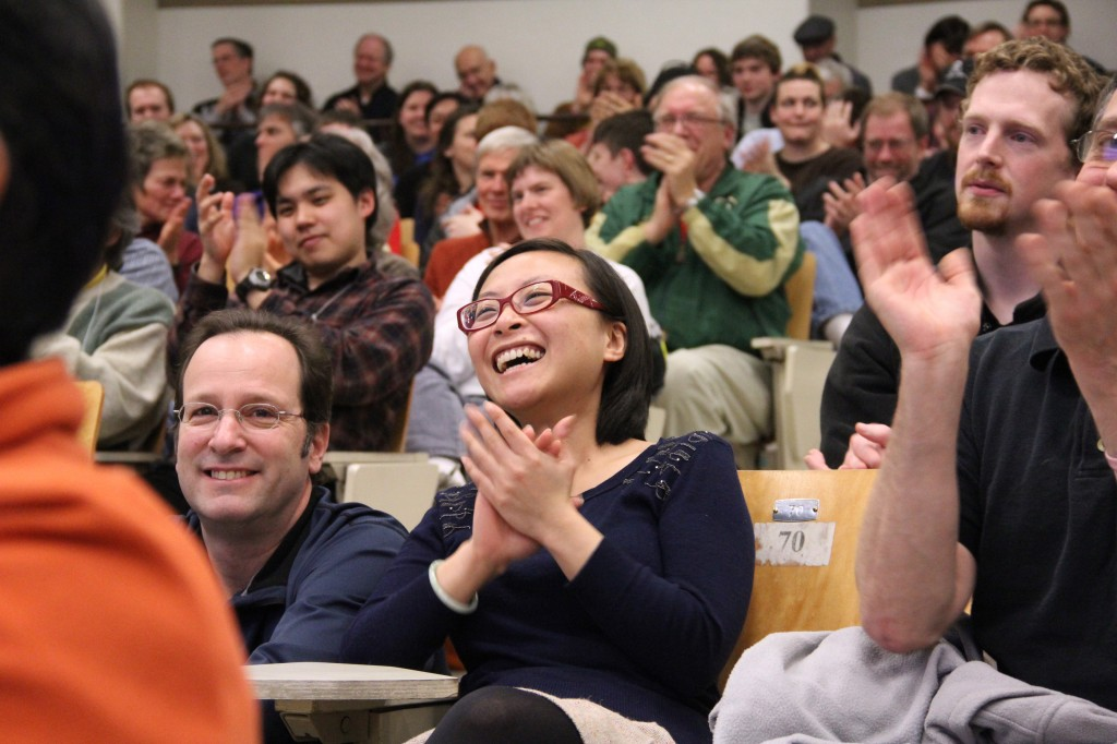 An appreciative crowd applaud the slammers. Image: Jack Liu.