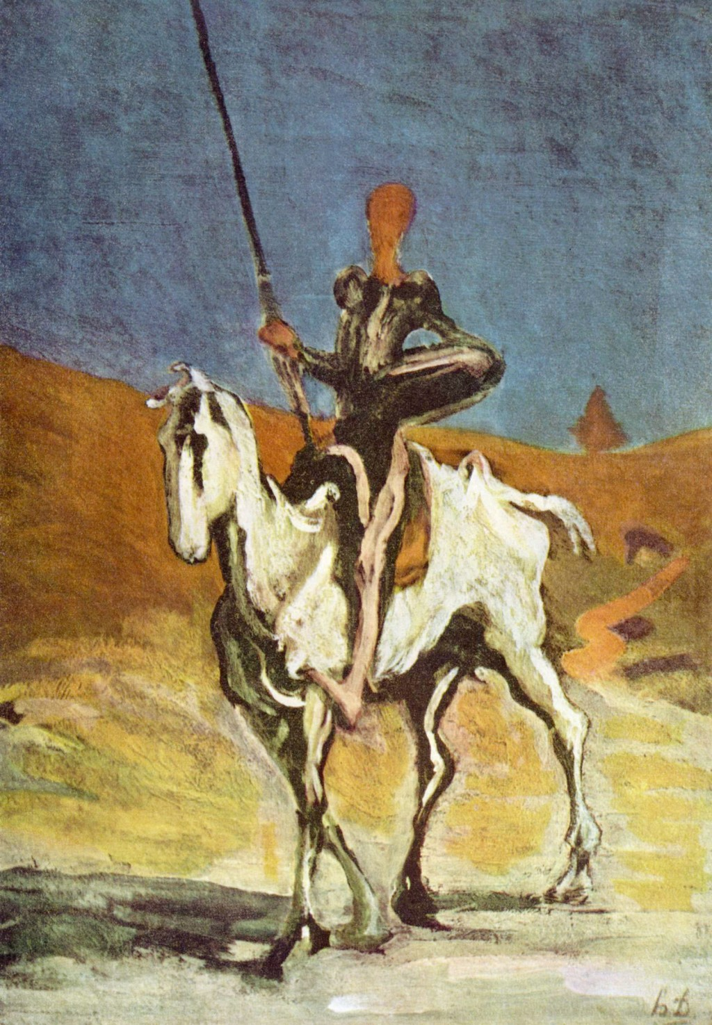 Don Quijote and Sancho Panza drawn by Honoré Daumier. Image: Verlagsgesellschaft mbH under the GNU Free Documentation License.
