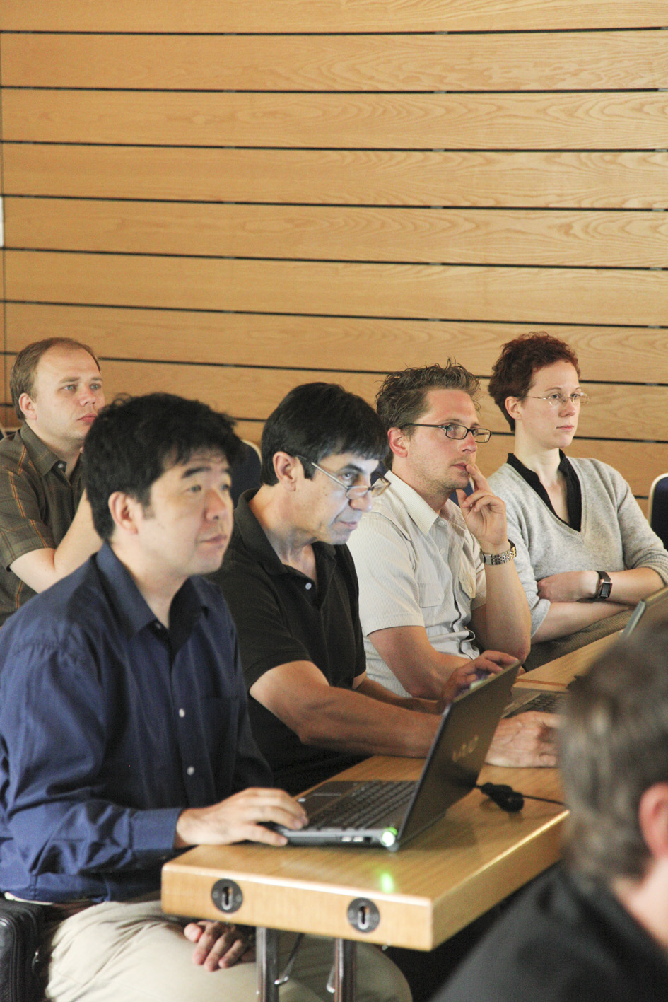 Participants listen attentively at the workshop on linac operation with long bunch trains, held at DESY from 6-8 June. Image: DESY