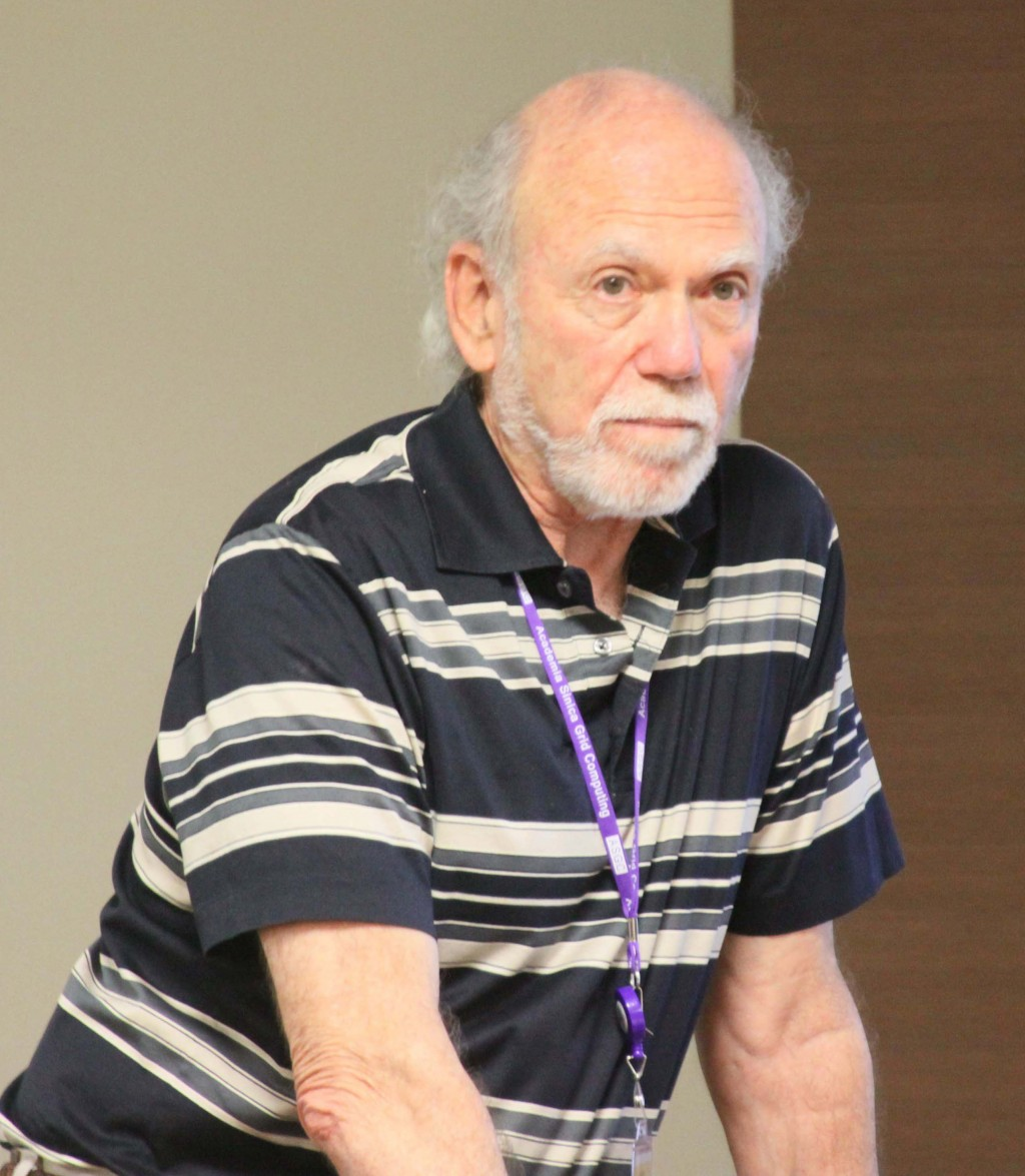 The author, Barry Barish, presenting to the PAC