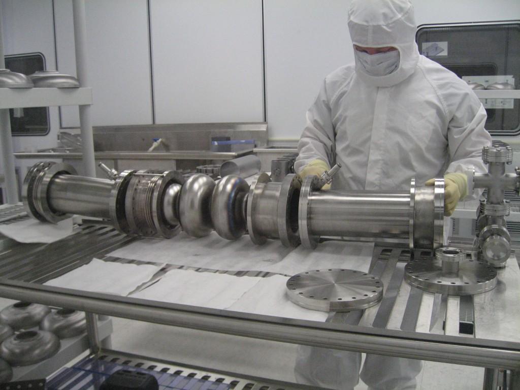 Niowave employee cleans niobium cavity. Image: Niowave