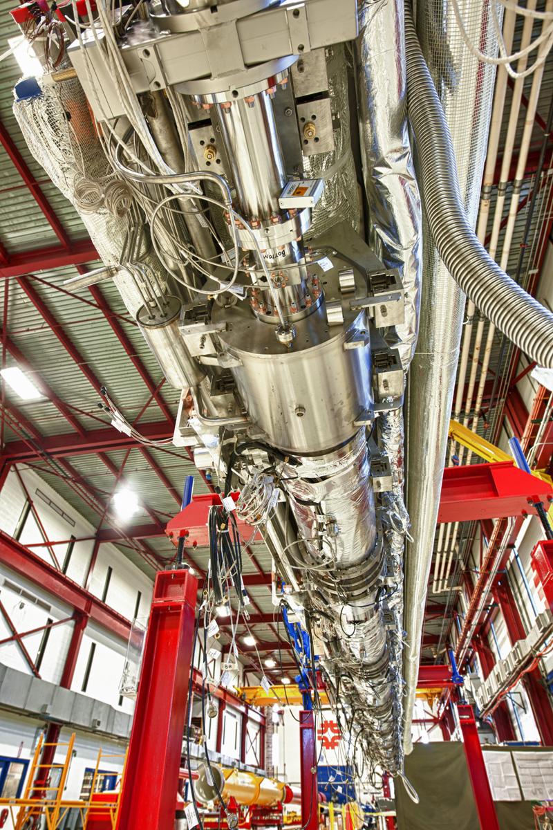 Underside of the CM2 in Fermilab's Industrial Center Building. Image: Reidar Hahn