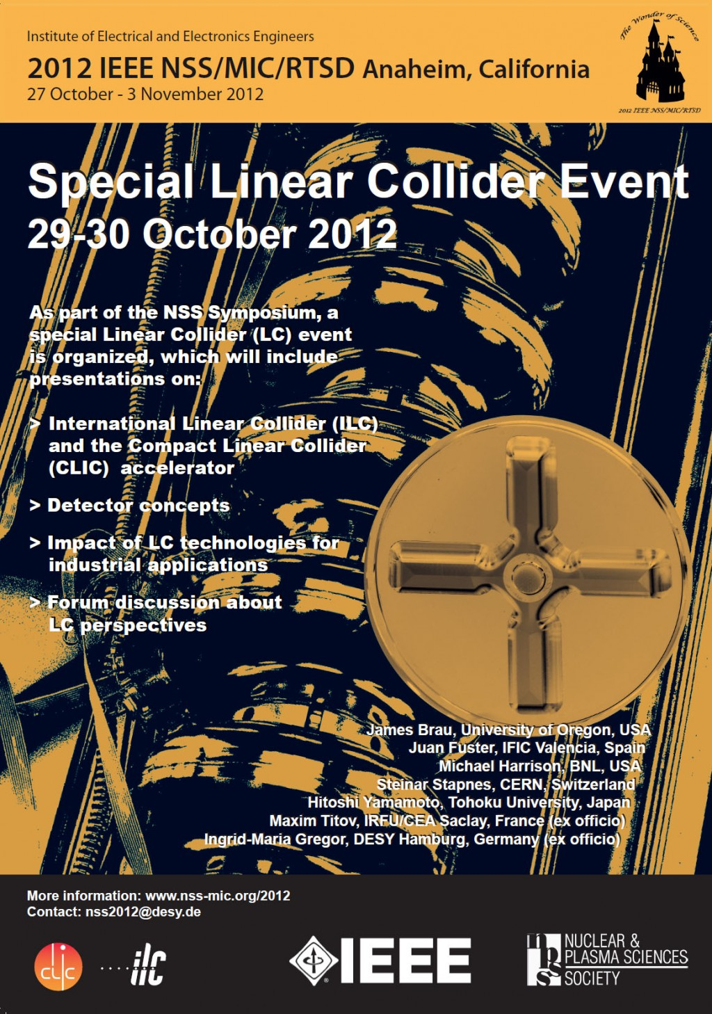 IEEE Linear Collider Event meeting poster