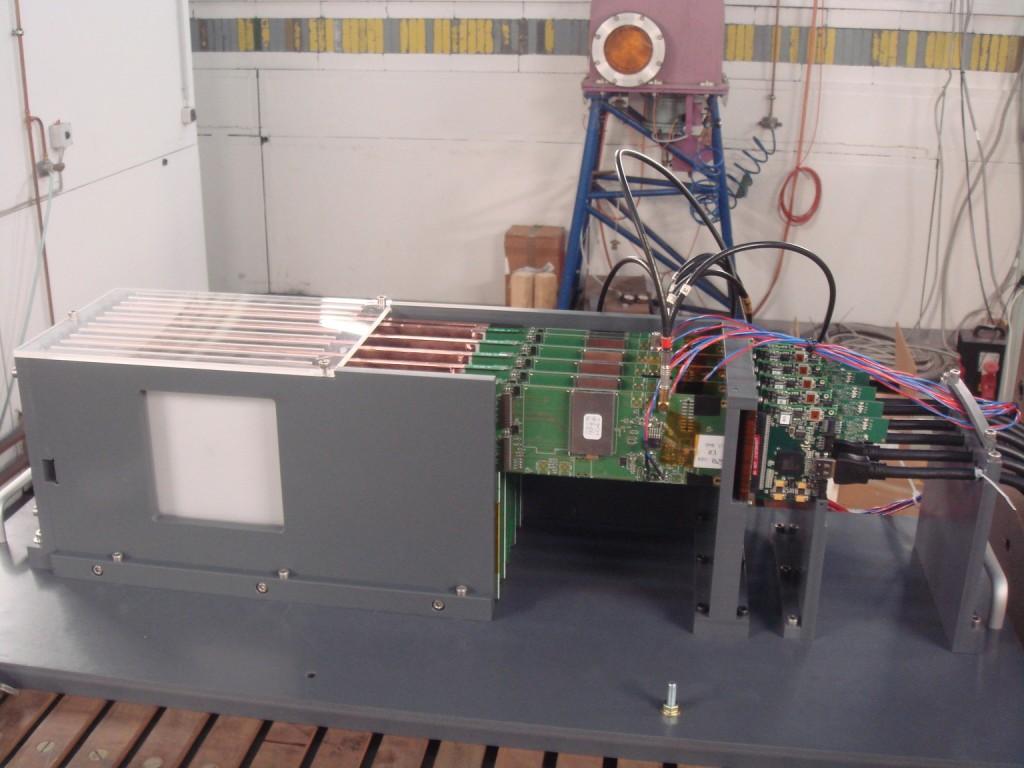 Detector setup at DESY.