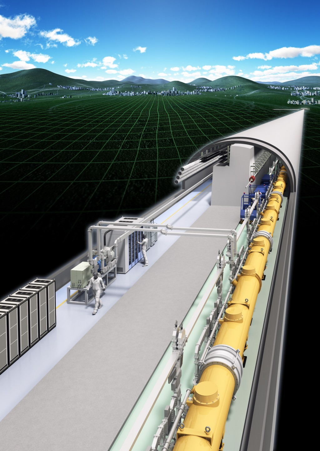 The International Linear Collider - about to publish its Technical Design Report. Image: ILC, Rey.Hori
