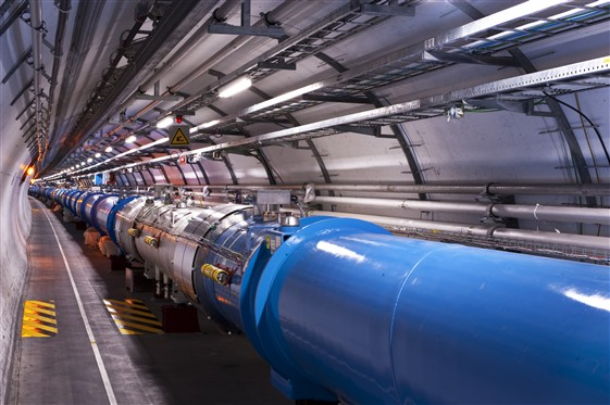 The Large Hadron Collider at CERN - built and delivering exciting scientific results. image: CERN