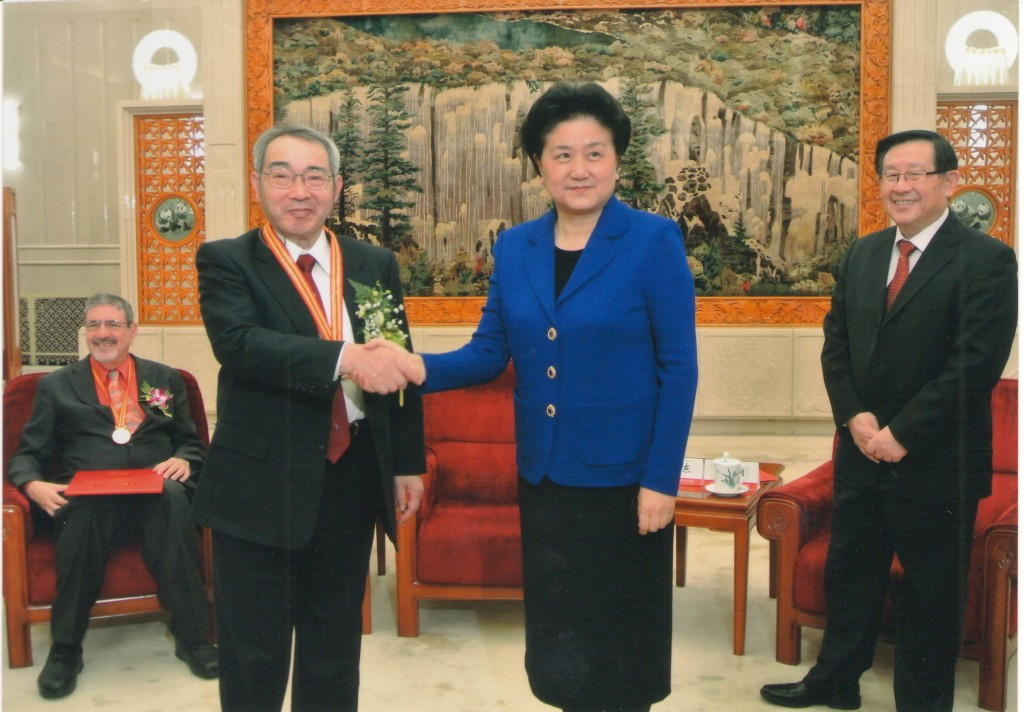 State Councillor Liu Yandong meets with Shin-ichi Kurokawa (image by Qiu Huasheng, CAS)