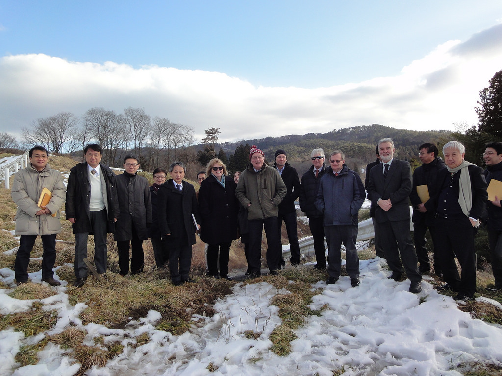 The LCC Directorate and their hosts near the designated interaction point. Image: Rika Takahashi