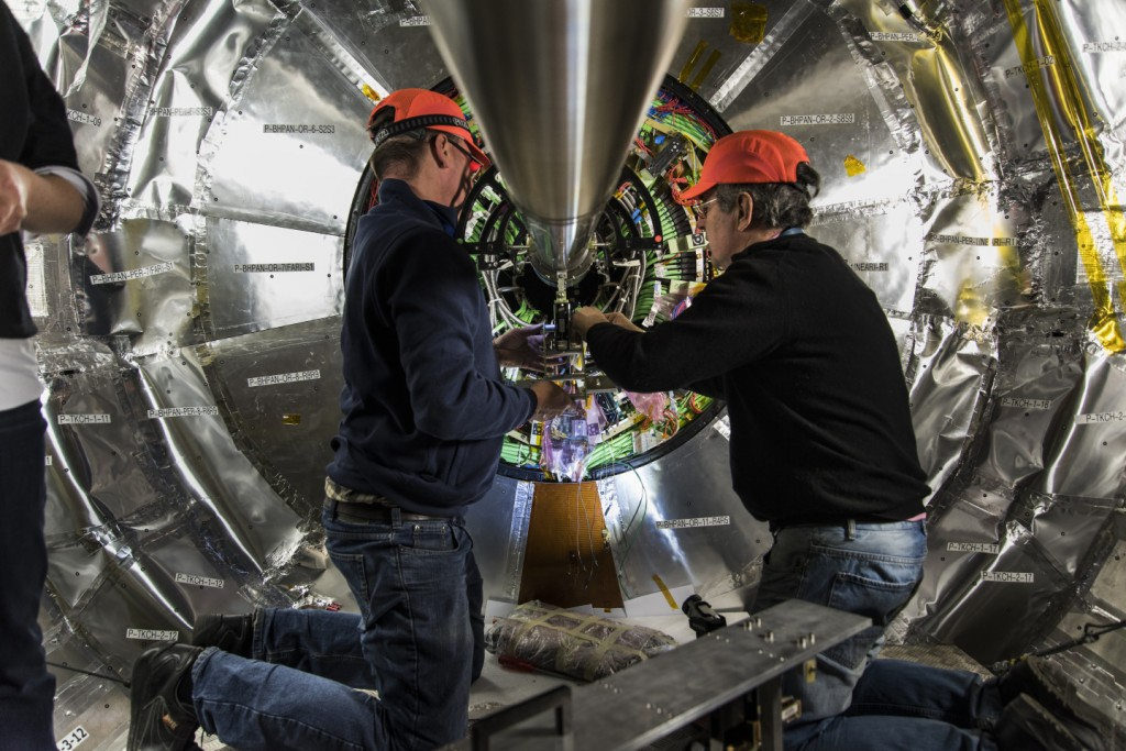 The luminometer was installed in the CMS detector in January. Image: CERN