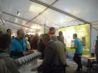A cavity and real detector prototypes were on display at the ILC stand on DESY DAY