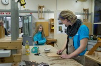 In DESY's carpentry workshop during the open day.