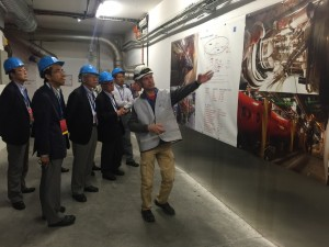 The group also visited the CMS experiment at CERN. Image: Akira Yamamoto