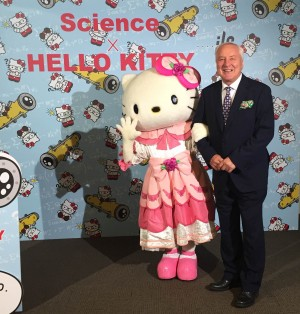 Engaging with the Japanese public means taking on board local heroes... Science × Hello Kitty (c) 1976, 2016 SANRIO CO., LTD.APPROVAL NO.S571891