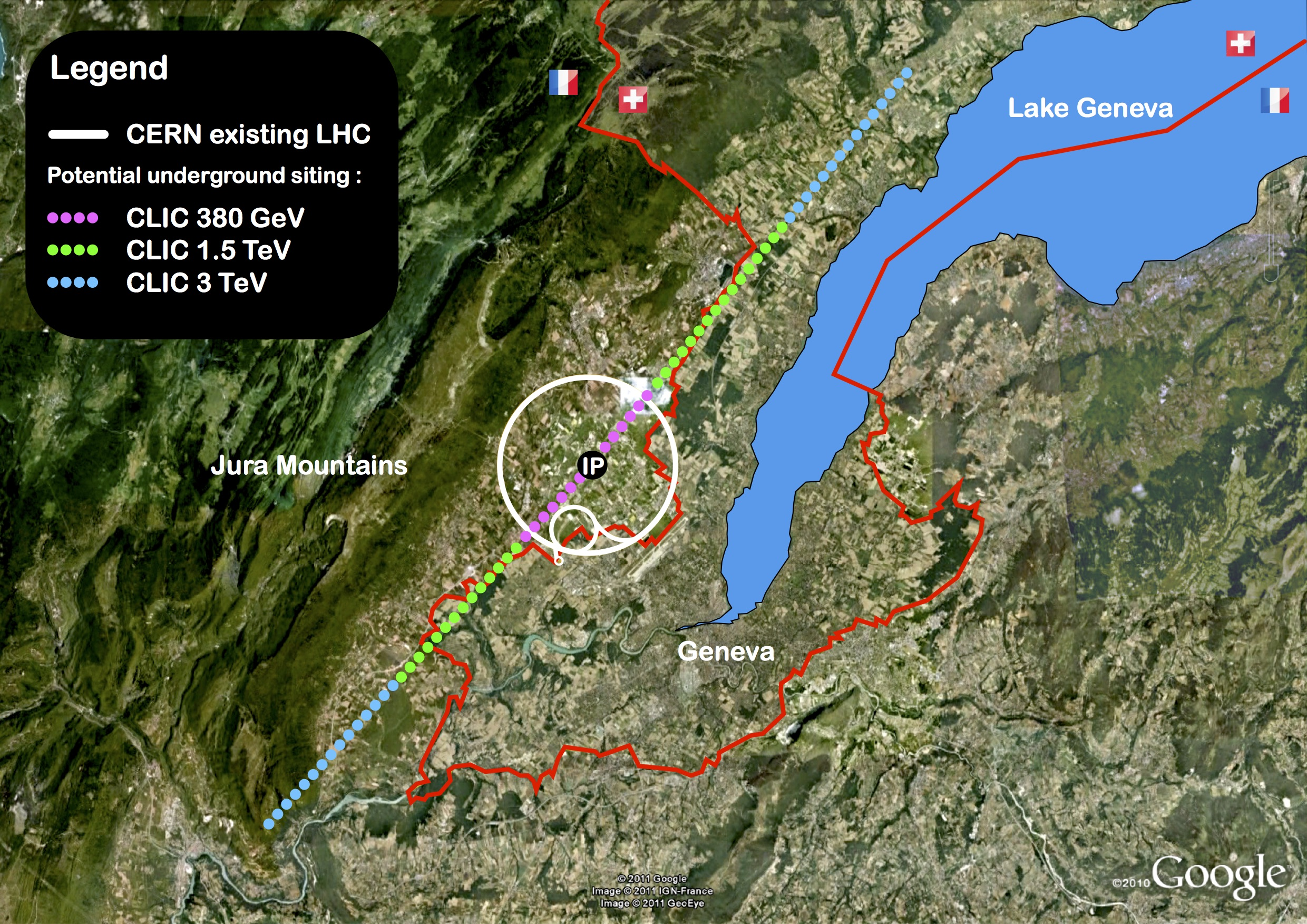 CLIC – optimising the initial 380-GeV stage | LC NewsLine Clic Google Maps on