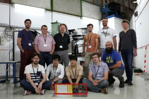 The team in the DESY test beam in August. Image: DESY