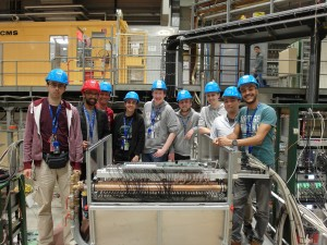 The team preparing for one of the largest test beam runs in recent years.