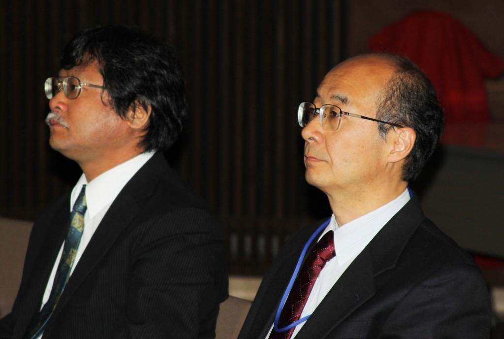Yasuhiro Okada, KEK, FALC Chair and Nobu Toge, KEK, FALC Secretary