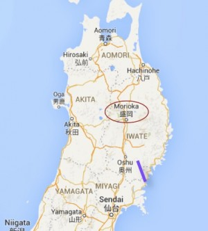 Morioka in Iwate will host the LCWS in December. The little purple bar is the ILC.