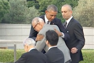 President Obama embraces a Hiroshima survivor. Watch his full speech at