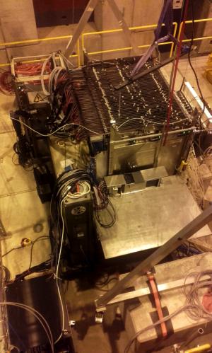 Testing, testing... calorimeters in the test beam at CERN.