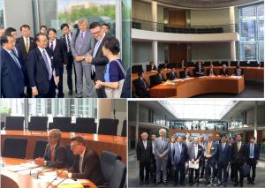 The visit of the Japanse delegation to Bundestag on July 1.